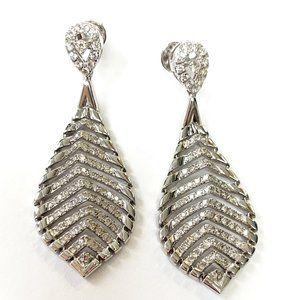 Diamond Leaf Earrings Authentic 14kt gold